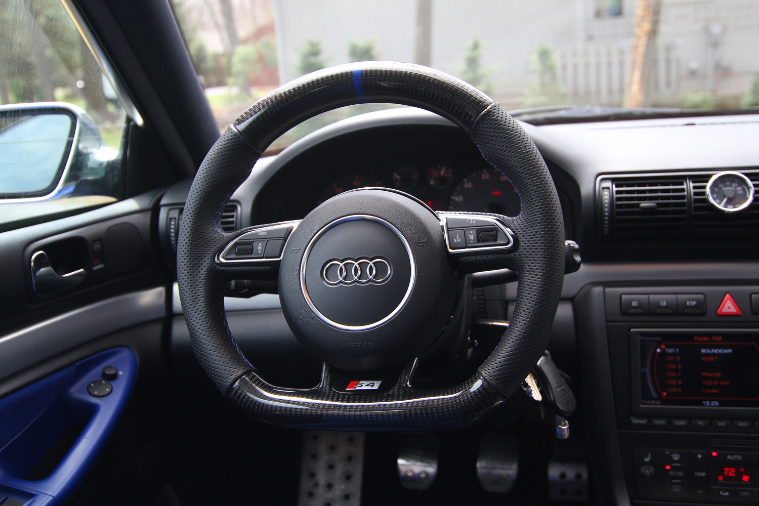 Carbon Fiber Wheels >> VWVortex.com - Another S4 update - this time a carbon fiber flat bottom steering wheel...